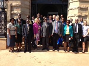 Besök vid Makerere University, Kampala, Uganda.