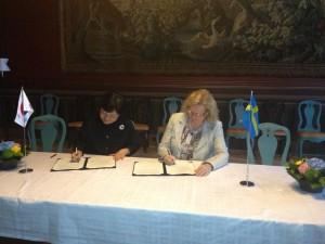 Signering av MoU